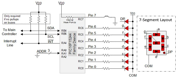 Figure 1. Wiring of the I/O Expander