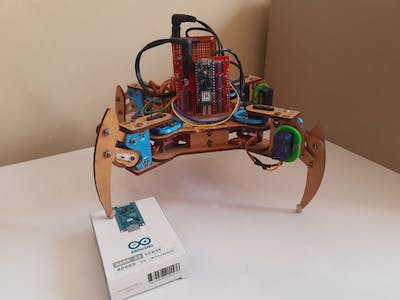 Quadruped with Arduino Nano 33 BLE Sense