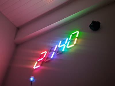 RGB Large Digital Clock