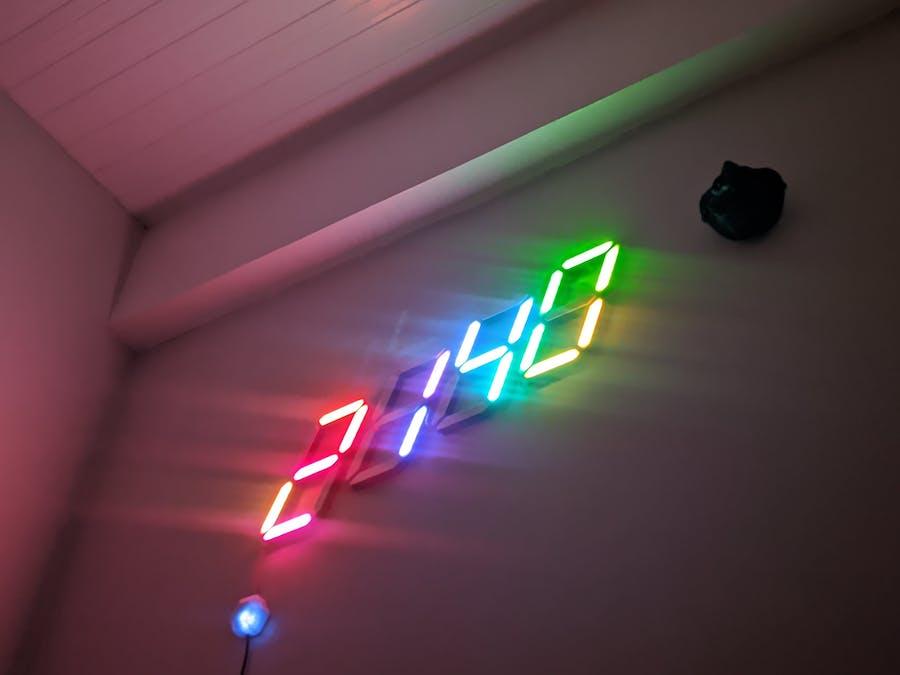 RGB Large Digital Clock