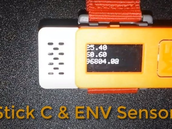 M5STACK How to Display Temperature, Humidity and Pressure...