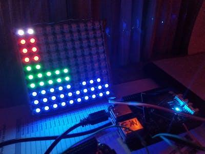 LED Matrix Audio Visualizer