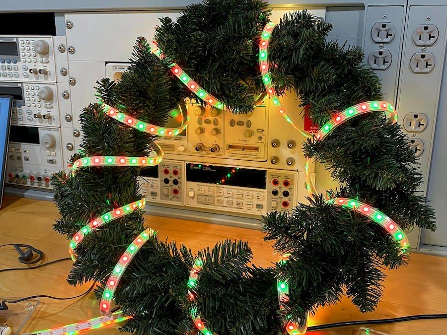 """Beaglebone """"Smart"""" Christmas Wreath"""