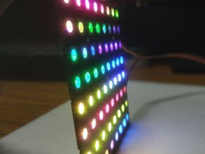 World's Slimmest NeoPixel LED Matrix