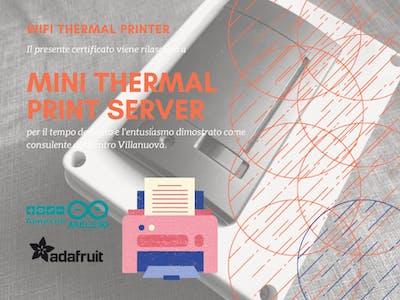 Adafruit Thermal Print WiFi Server