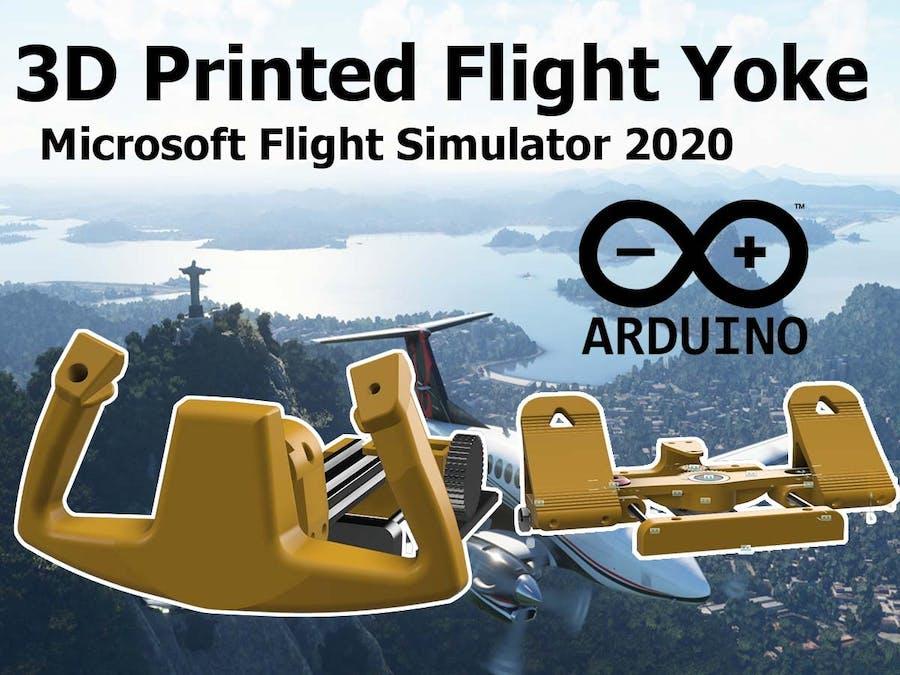 3D Printed Arduino Flight Yoke for Flight Simulator