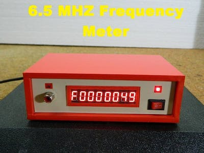 DIY 6.5MHz Frequency Meter with MAX7219 7-Segment LED Module