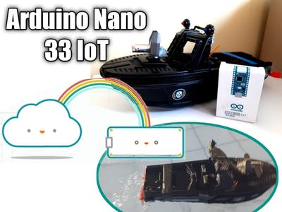 Boat with Arduino Nano 33 IoT on Arduino Cloud