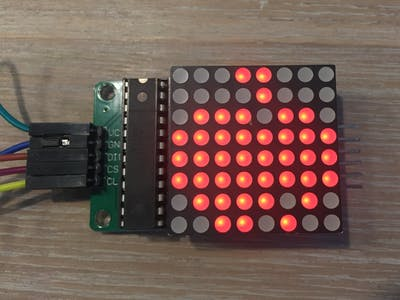 Controlling 8x8 Dot Matrix with Max7219 and Arduino