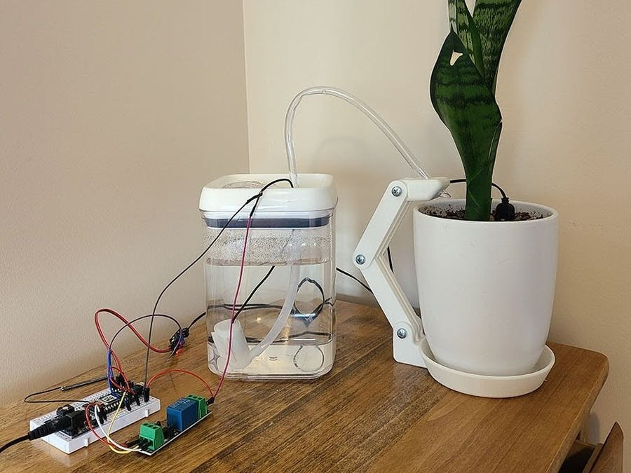 Automatic Snake Plant Watering Device