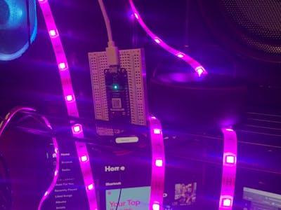 Amazon Alexa Controlled LED Strip Lights