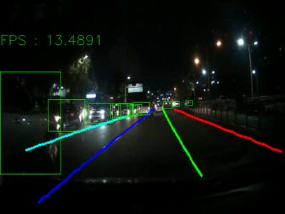 Image Enhancement for Joint Lane and Object Detection