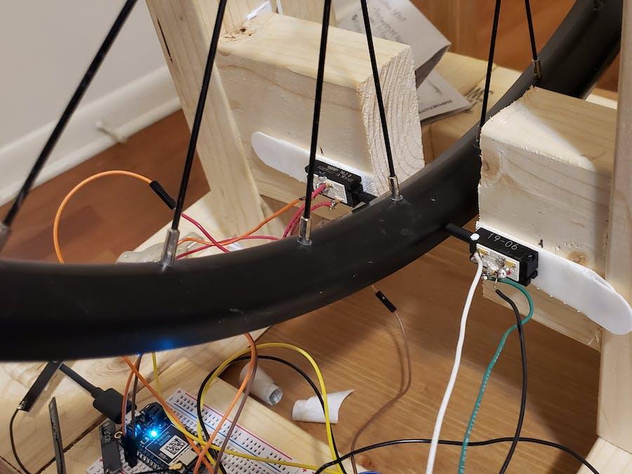Dual Linear Potentiometer MTB Wheel Truing Indicator