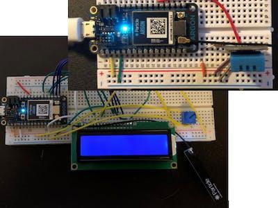 Temperature and Relative Humidity Sensor Setup