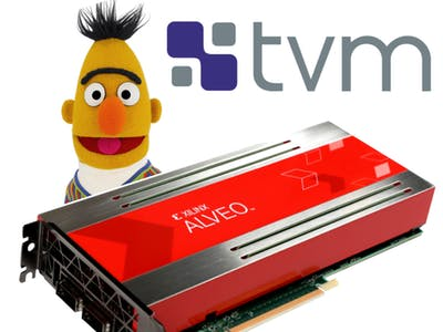 Towards efficient BERT inference on Alveo FPGA with TVM
