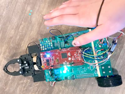 Wearable Control for Robot Car and Gripper