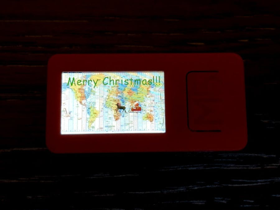 Santa Tracker using M5StickC Plus for an M5Stack Christmas