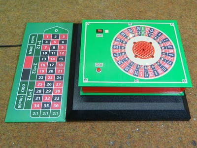 DIY 37 LED Roulette Game