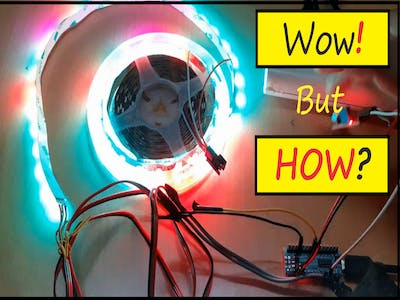How To Make DIY Music Reactive RGB LED Strip WS2812B