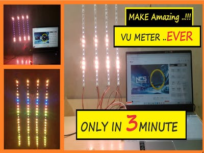 DIY Music Visualizer using RGB LED || Vu Meter