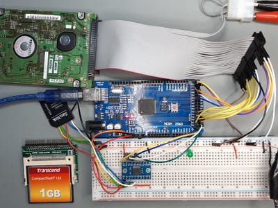 Extend an Arduino with a CF Card or IDE Drive