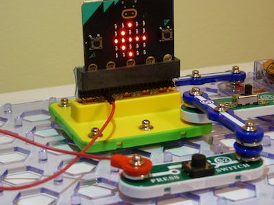 Snap:bit - Use Press Switch as Buttons A and B of Micro:bit