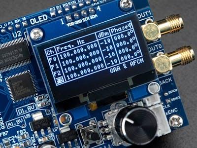 RF Signal Generator DDS AD9959 4-Ch 225MHz Arduino Shield