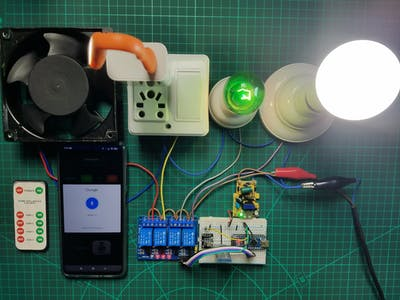 Home Appliance Control Using Android Application, IR Remote