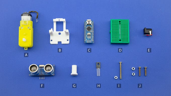 Fig. D - Electronic and electromechanical components