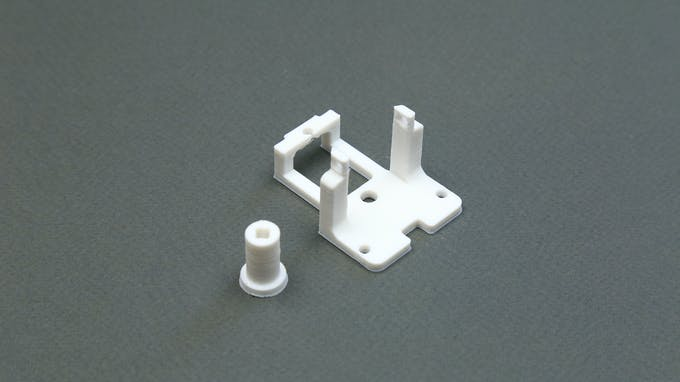 Fig. F - 3D printed Lego-compatible DC gear motor coupling and housing