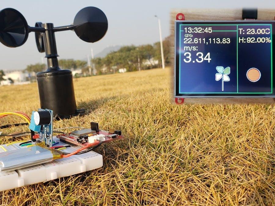 Wind Speed Monitor Via MQTT