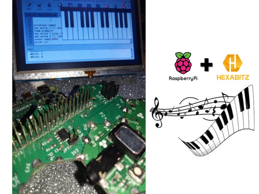 Hexabitz Piano Controllable from Raspberry Pi and Python GUI