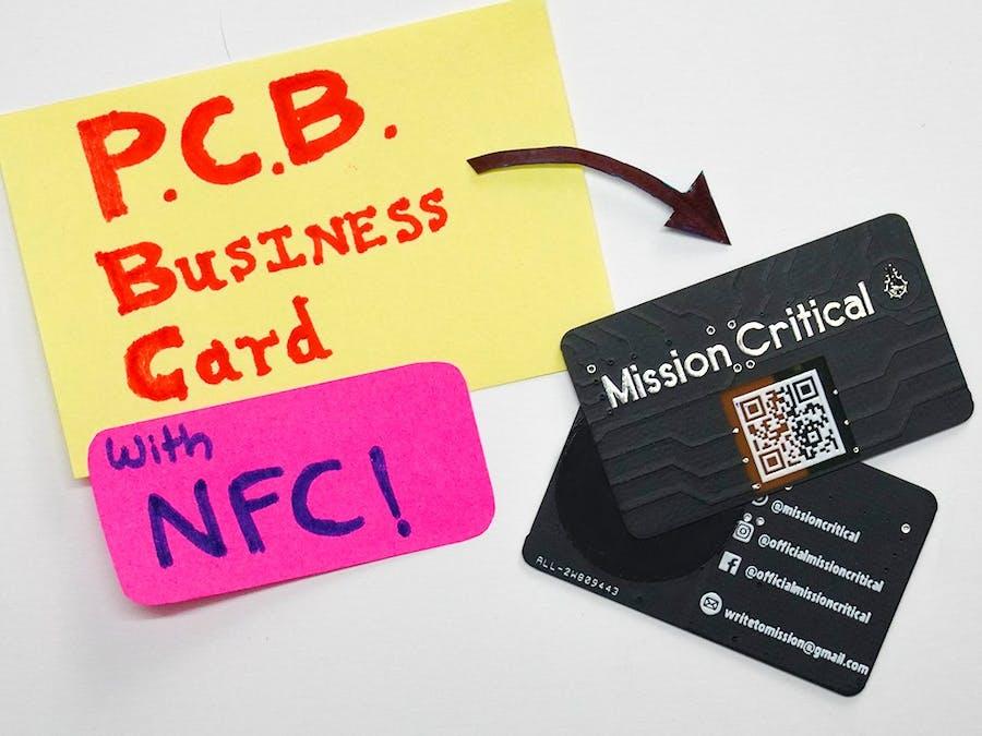 nfc business card  hacksterio