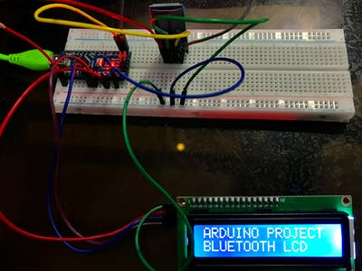 How to type on LCD using Bluetooth