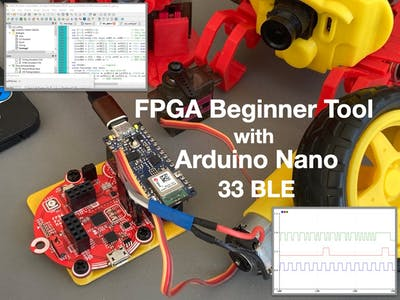 FPGA Beginner Tool with Arduino Nano 33 BLE