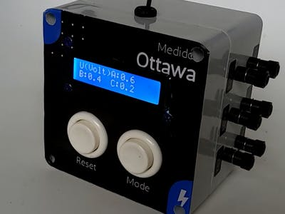 Three-Phase electrical power meter with Blink APP