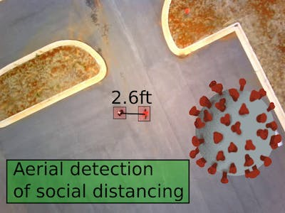 Aerial Social Distancing Monitoring with Drones