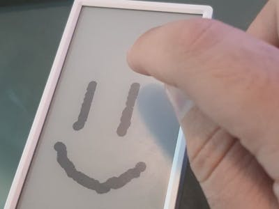 Drawing on Eink