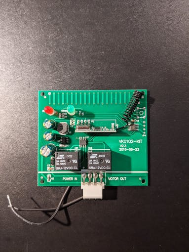 Top view: Exhaust control board