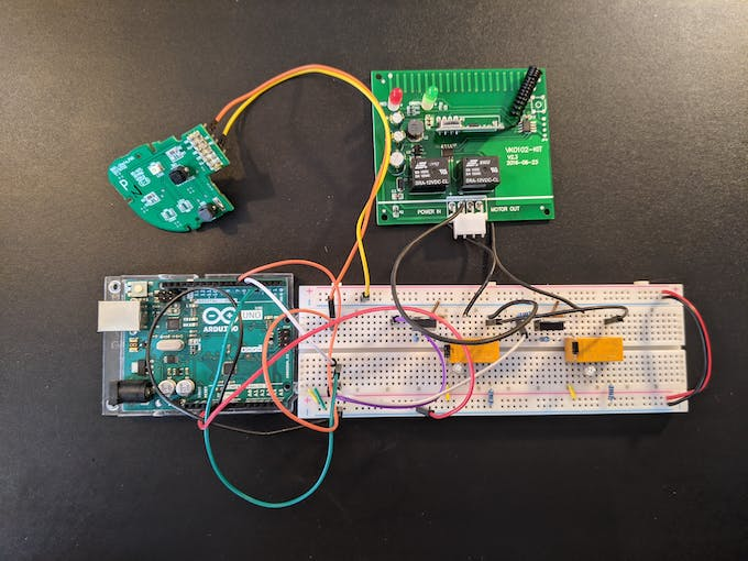 Uno with circuit, button module, and exhaust module