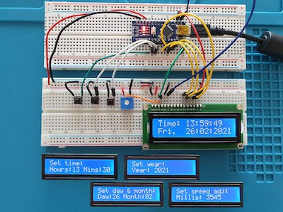 Accurate Clock Just Using an Arduino