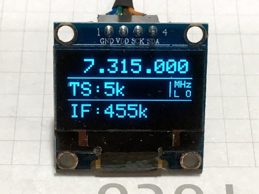 10kHz to 120MHz VFO / RF Generator with Si5351 and Arduino