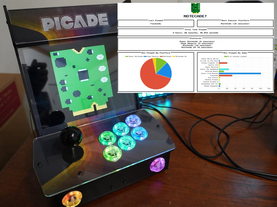 Notecade: Monitor Your Retro Gaming with the Notecard