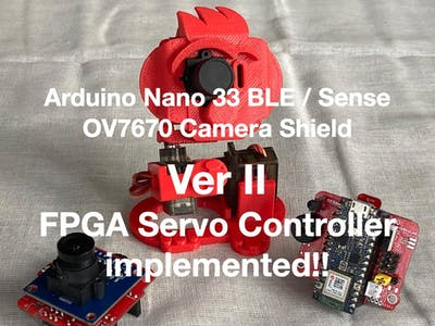 OV7670 Camera Shield VerII FPGA Servo Controller