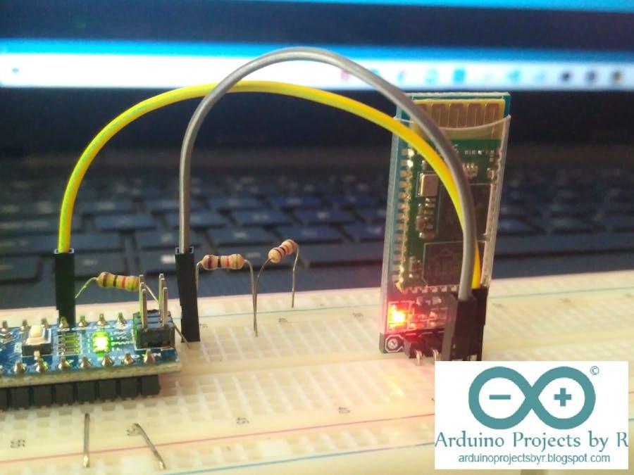 Interfacing the HC-06 Bluetooth module with Arduino