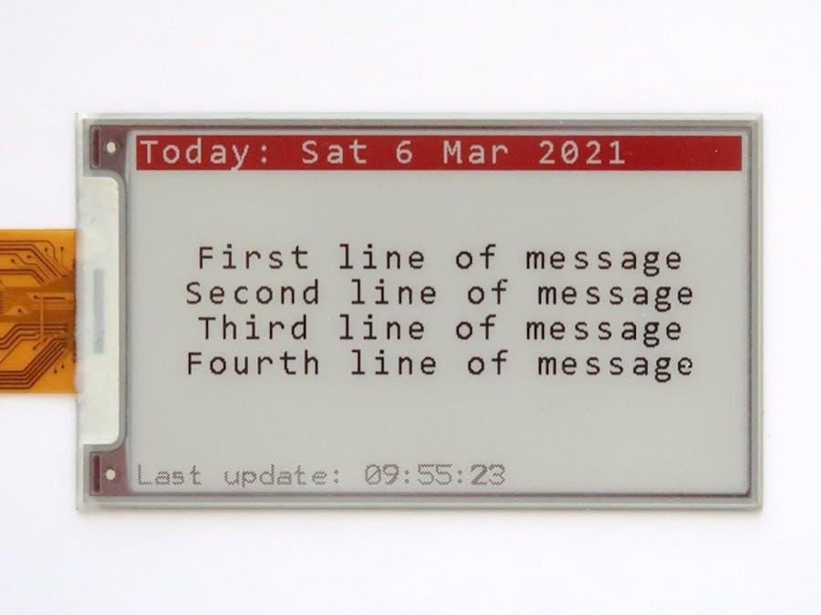Remote e-Paper Messages Panel