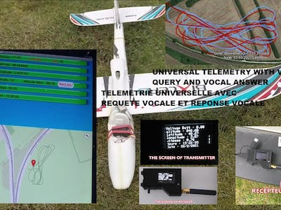 Universal telemetry for rc plane with android application
