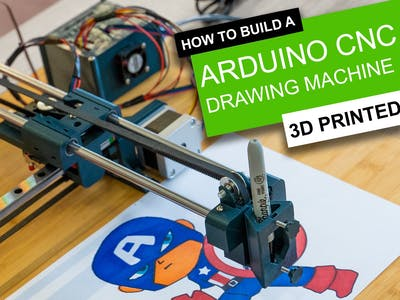 Simple 3D Printable Arduino CNC Drawing Machine