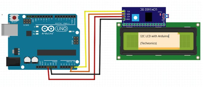Arduino with lcd i2c module