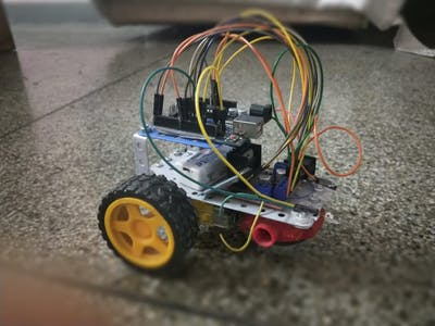 Bluetooth controlled car with headlight